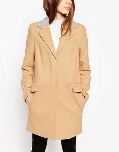 ASOS - Manteau à col contrastant