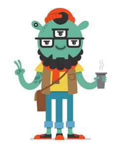 Hipsters from Outer Space on Behance