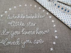 Twinkle Twinkle Little Star  Hand Embroidery by SarahEdgarDesigns, $4.75