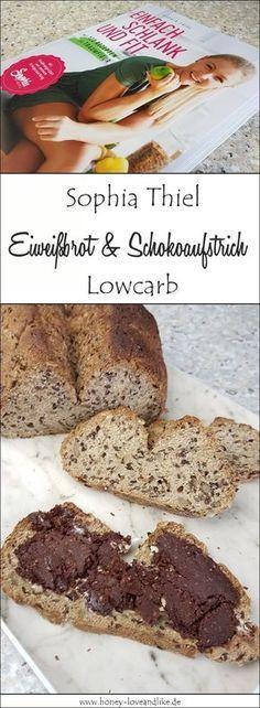 So lecker und easy: Sophia Thiel Eiweißbrot mit Schoko-Haselnuss-Aufstrich. #lowcarb