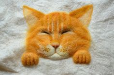 "Felt panels on the wall ""Red Cat"" by Krupennikova Oxana."