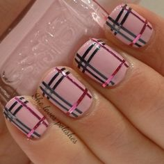 39 Awesome Plaid Nail Art Designs for Your Preppy Days ... | Nails ...