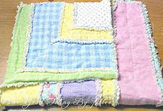 "DIY Flannel Baby Rag Quilt. My first ever attempt at ""quilting"". :-)"