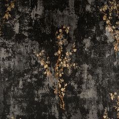 "York Wallcoverings Enchantment Zen 33' x 20.8"" Floral and Botanical Foiled Wallpaper"