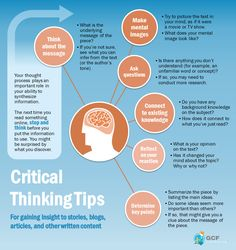 Critical thinking tips