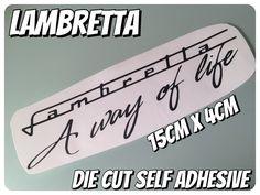 Lambretta way of life  die cut self adhesive vinyl  black matt  scooter decal   | eBay