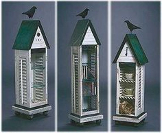 Scavenger Art-Architectural sculpture and furniture art using vintage and found objects from Mark Orr, an artist making cabinets, boxes and furnishings in Ann Arbor, MI. Raven/crow art.