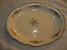 Vintage Homer Laughlin Virginia Rose Platter B46 N 8 Circa 1946  EBay bid starts at $20