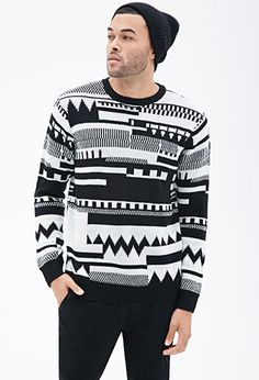 Abstract Geo-Patterned Sweater | 21 MEN - 2000082506