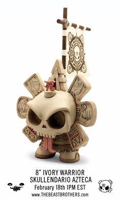 perfecto !!! art toy azteca