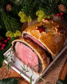 Beef Wellington Advent Creation Stock Photo (Edit Now) 245470792 Beef Wellington, I Want Food, Food Carving, Xmas Dinner, Christmas Dishes, Christmas Recipes, Instant Pot Dinner Recipes, Xmas Food, Buffets
