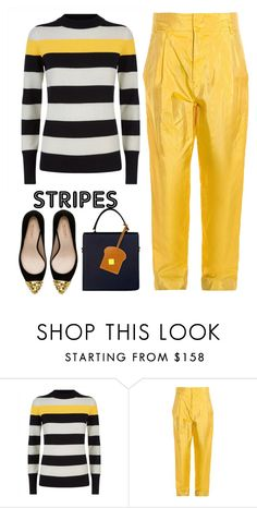 """""""Yellow"""" by pamela-802 ❤ liked on Polyvore featuring Jaeger, Isabel Marant, Zara and BoldStripes"""