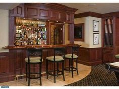 Love this #bar featured in their #gameroom, perfect for entertaining family and friends