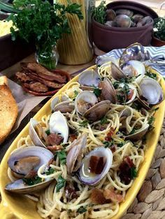 @Fabio Viviani cooks #spaghetti in #white #clam #sauce. #seafood #clams #homeandfamily #homeandfamilitv
