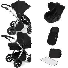 ickle bubba Stomp V2 All-in-One Travel System (Black)