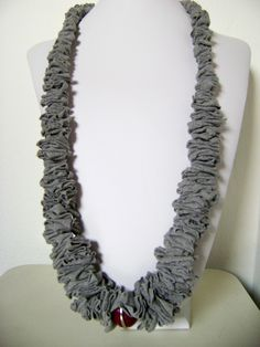 Downtown recycled t shirt necklace 20%off. €27,00, via Etsy.