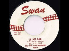 La Dee Dah - Billy & Lillie - Big Late 50's Rock and Roll Hit - YouTube