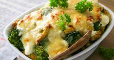 Broilerigratiini sisältää reilusti kukkakaalia ja parsakaalia. Gratiini kuorrutetaan ranskankermalla, ja makua antaa juustonmakuinen ruokakerma. Tällä reseptillä kasvispitoinen, herkullinen ruoka on pöydässä puolessa tunnissa! Koti, Mashed Potatoes, Curry, Meat, Chicken, Ethnic Recipes, Whipped Potatoes, Curries, Smash Potatoes