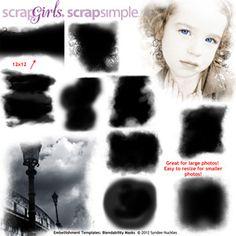 $4 ScrapSimple Embellishment Templates: Curled Instant Photos, designed by Syndee Nuckles, Scrap Girls, LLC digital scrapbooking product designer