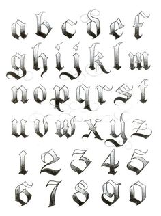 Foto Tattoo Idees tattoo styles, tattoo style names, tattoo styles tattoo styles Tattoo Fonts Alphabet, Calligraphy Fonts Alphabet, Hand Lettering Alphabet, Graffiti Alphabet, Number Tattoo Fonts, Graffiti Numbers, Calligraphy Tattoo Fonts, Font Tattoo, Letter Fonts