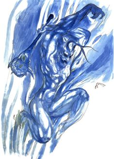Final Fantasy V - Stalker Concept Art - Yoshitaka Amano