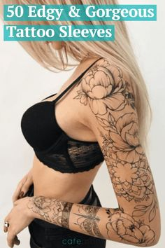 There is something magical and attractive about sleeve tattoos for women. They make ladies look cute and fierce at the same time. Learn more about sleeve tattoos with us! Trendy Tattoos, Sexy Tattoos, Unique Tattoos, Beautiful Tattoos, Body Art Tattoos, Girl Tattoos, Small Tattoos, Tatoos, Tattoos For Ladies