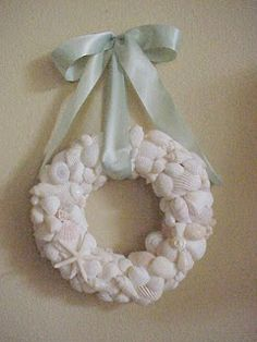 Basics on how to make a wreath--Seashell and pearl wreaths used as examples.
