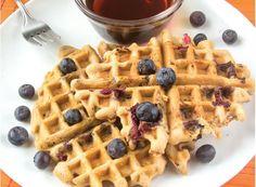 #GlutenFree Blueberry Waffles #Recipe - NEW from Gluten Free & More magazine