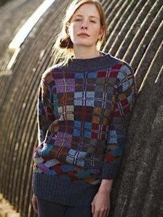 Free Knitting Pattern - Women's Sweaters: Islay Intarsia Sweater