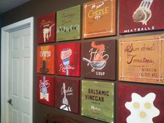 12 piece set or collage of Italian Bistro by Chocolatepolkadots, $360.00
