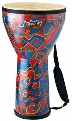 """Remo Medium Festival Djembe, 20""""x10"""" (Twinings Finish) by Remo. $105.00. The Festival Djembe comes pretuned and is available in different finishes and sizes. In Africa, one of the Djembe's functions is as a healing drum. Remo Djembes are based on the same traditional Djembe tone and form combined with Remo's modern advances including a wide range of tuning systems, heads, finishes and sizes.  Medium Festival Djembe: 10"""" Diameter, 20"""" Height. Save 24%!"""