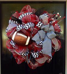 University of Alabama Football Deco Mesh Wreath on Etsy, $65.00