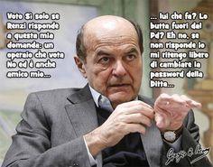 Bersani vuole fare una domanda a Renzi e resta in attesa di una risposta...