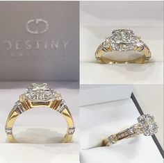 Beautifully Designed Diamond Ring, Specifically Handcrafted To A Special Customers Desire. Have You Got A Style In Mind?  Email At penrith@destinyjewellers.com.au For Any Queries  #custom I #ring I #diamonds I #diamond I #desire I #different I #collection I #admire I #dreams I #desires I #yellowgold I #whitegold I #follow4follow I #love I #special I #occasion I #bridal I #fashion I #engagement I #shoponline