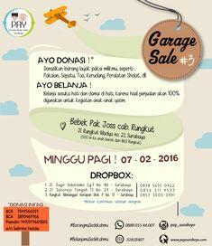Event POster Garage Sale - PAY Suroboyo Event Poster Design, Dan, Garage, Garages, Carriage House, Garage House