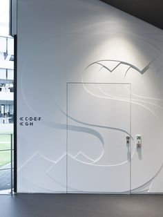 #signage and #wayfinding: Adidas laces  signage system and interior design  herzogenaurach 2011 / büro uebele