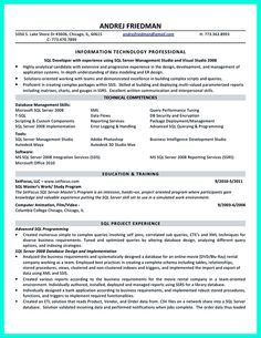 Database Developer Resume 2 Database Developer Resume Here Can Be Used By Professionals To Prove Their Skills And Track Record