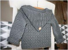 Haakz{ cardigan. Link to free Dutch pattern