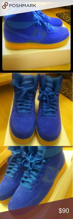 Air Force High Top Royal Blue Size 11 Nike Air Force High tops. Brand new with box and no creases Nike Shoes Sneakers