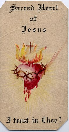 Sacred Heart of Jesus I trust in Thee