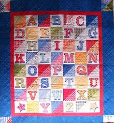 ABC Quilt - Might have to figure this out at some point.