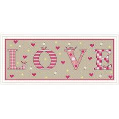 LOVE - Cross Stitch Chart DOWNLOADABLE