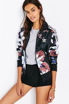 adidas Originals Lotus Print Track Jacket