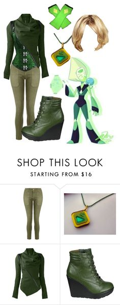 """""""Peridot (Steven universe)"""" by ravenclawcrown on Polyvore featuring Current/Elliott, Breckelle's, women's clothing, women, female, woman, misses and juniors"""