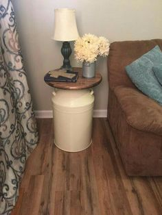Milk Can End Table