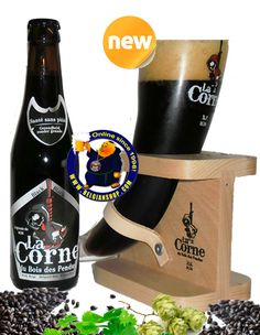 """La Corne du Bois des Pendus BLACK 8° Available at http://store.belgianshop.com/special-beers/1624-la-corne-du-bois-des-pendus-black-8-13l.html The third Corne du Bois des Pendus can be called """"Wonderful Horn"""". Adorned with an ultra powerful black dress and a fleeting beige foam, creamy and warm, the Black Horn is an easy beer to savour. The nose and mouth reveal soft aromas of remarkable intensity. The flavor is sweet in the first place prior to ramp up on chocolate notes, cafes """"old"""" and…"""