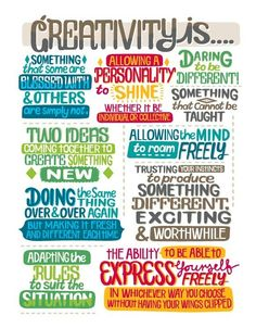 Great guideline for creativity