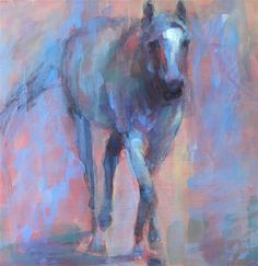 "Daily Paintworks - ""Lilah"" - Original Fine Art for Sale - © Vicki Wood Blue Horse, Fine Art Gallery, Art For Sale, Moose Art, Spirit, House Design, Horses, Sun, Wood"