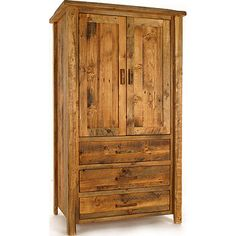 We carry this Colorado Reclaimed Wood Armoire, and other fine American-made rustic furniture and décor. Browse our rustic furniture catalogs now. Free Delivery to 48 states. Rustic Country Furniture, Cabin Furniture, Reclaimed Wood Furniture, Furniture Ideas, Prefab Barns, Rustic Dining Chairs, Tv Armoire, Furniture Catalog, Handmade Furniture