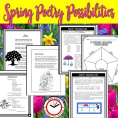 April is National Poetry Month. Improve your poetry teaching with these poems and their custom lessons. Forms Of Poetry, Poetry Unit, Writing Poetry, Teaching Writing, Teaching Resources, Teaching Ideas, Creative Teaching, Poetry Activities, Spring Activities